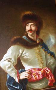 Portret van een jonge man in een Polse kostuum