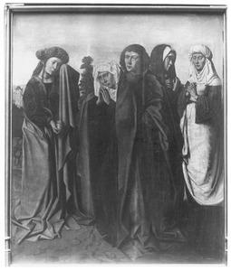 De heilige vrouwen en Johannes de Evangelist op Golgotha