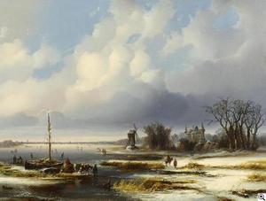 Hollands rivierlandschap in de winter