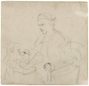 Zittende man met een kind