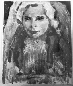 Marlene Winters in communiejurk (voorstudie)