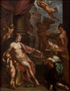 Venus geëerd door de nimfen