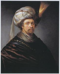 Portret van een man ten halven lijve met tulband