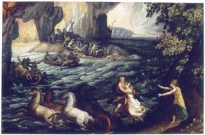 De roof van Proserpina door Pluto aan de oevers van de Styx