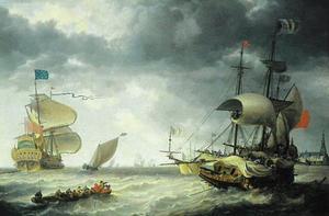 Oorolosschepen op zee