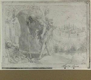 De heilige Onuphrius vindt het lijk van zijn leermeester Hermes