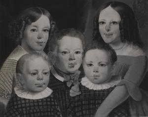 Portret van de kinderen van Abraham Pijnacker Hordijck (1808-1879) en Geertje Janna van Wijk (1810-1867)