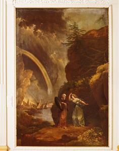 Fingal toont het schild aan Conban dat van haar geliefde Swaran blijkt te zijn