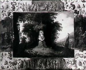 Madonna met kind, omgeven door andere voorstellingen uit