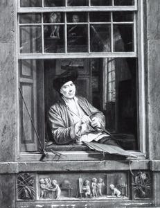 Zelfportret van Gerrit Zegelaar (1719-1794)