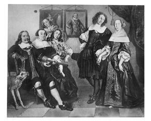 Portret van Michiel Adriaensz. de Ruyter en zijn familie