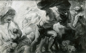 De val der titanen (Ovidius, Metamorfosen, I, 151-155)