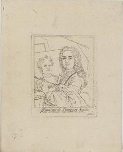 Portret van Frans van Stampart (1675-17500