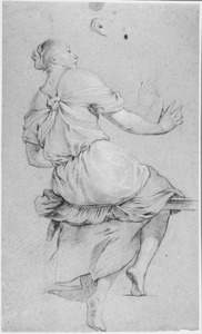 Zittende vrouw, naar rechts