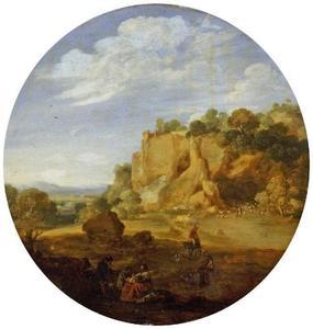 Zuidelijk landschap met rotsberg