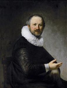 Portret van een zittende man