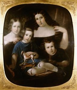 Portret van de kinderen van Rene Frederic Groeninx van Zoelen (1800-1859)