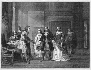 Willem III ontvangt De Ruiter aan den Uithoorn