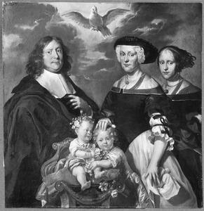 Portret van Johan Lassenius (1636-1692) en zijn gezin
