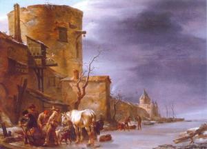Stadswal van Haarlem in de winter