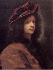 Zelfportret met grote baret