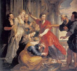 Odysseus herkent Achilles tussen de dochters van Lycomedes