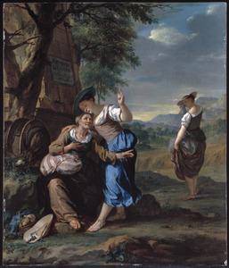 Ruth besluit bij haar schoonmoeder Noömi te blijven, terwijl Orpa naar huis terugkeert (Ruth 1:6-22)