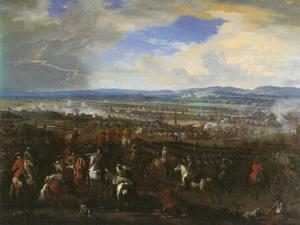 De slag bij Chiari : prins Eugenius van Savoie verslaat het Franse bezettingsleger van Turijn onder maarschalk Villeroy bij de rivier de Oglio nabij Chiari