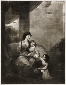 Portret van Helena Wilhelmina de Vos (....1831) en haar kinderen