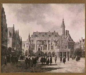 De Grote Markt met Raadhuis te Haarlem