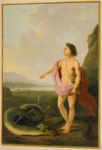 Apollo en de door hem gedode slang