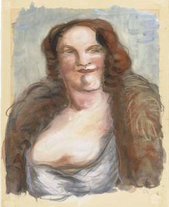 Portret van vrouw met rood haar