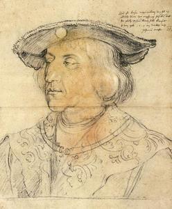 Portret van keizer Maximiliaan I van Habsburg (1459-1519)