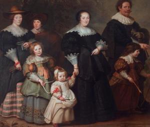 Zelfportret van Cornelis de Vos (1584-1651)met zijn vrouw Susanna Cock en hun kinderen