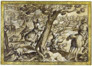 Hertenjacht met honden
