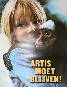 Artis-ondersteuningsaffiche: Artis moet blijven !