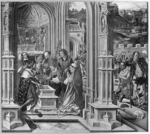 Karel de Grote ontvangt de relieken van de passie