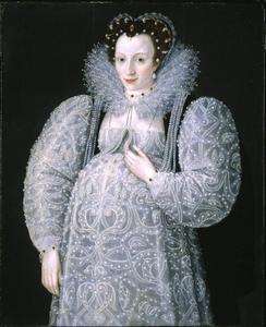 Portret van een zawangere dame