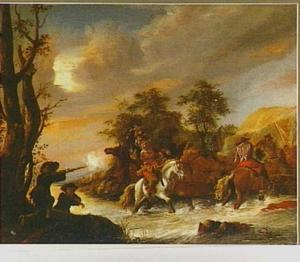 Ruitergevecht bij een rivier