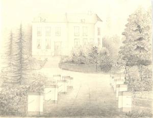 De tuin en het slot Kinkelenburg te Bemmel