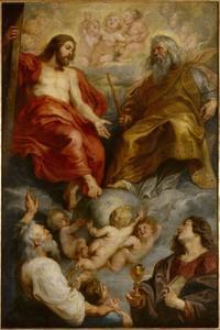 God de Vader en Christus met de Hl. Paulus en Johannes