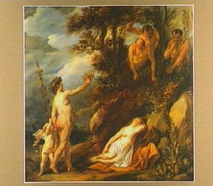 Bacchus vindt, in gezelschap van Cupido, de verlaten Ariadne slapend op het strand van Naxos