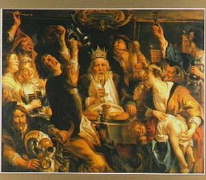 De koning drinkt of Driekoningen-avond