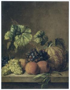 Vruchtenstilleven op een marmeren blad