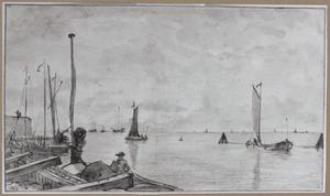 Gezicht bij het Nieuwe Diep bij Den Helder