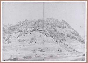 Alpenweide van Amseln bij de Amselspitz ten zuiden van Einsiedeln naar het zuiden gezien