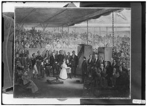 Het leggen van de eerste steen voor de sluizen van het Amsterdams Oosterdok door de 13-jarige erfprins Willem III op 10-6-1830