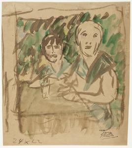 Twee vrouwen aan een terrastafel