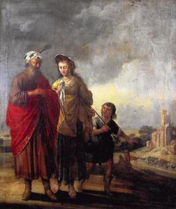 De verstoting van Hagar en Ismael (Genesis 21:14)