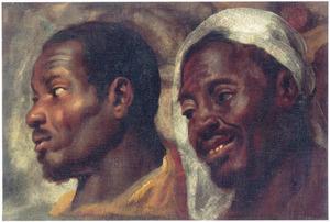 Twee studiekoppen van Afrikaanse mannen